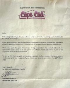 Cape Cod Letter