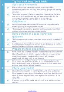 Top Ten Hack Day Tips & Tricks
