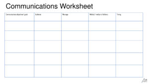 6R Communication Worksheet Grid