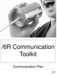 6R Product Communication Toolkit in Black and White