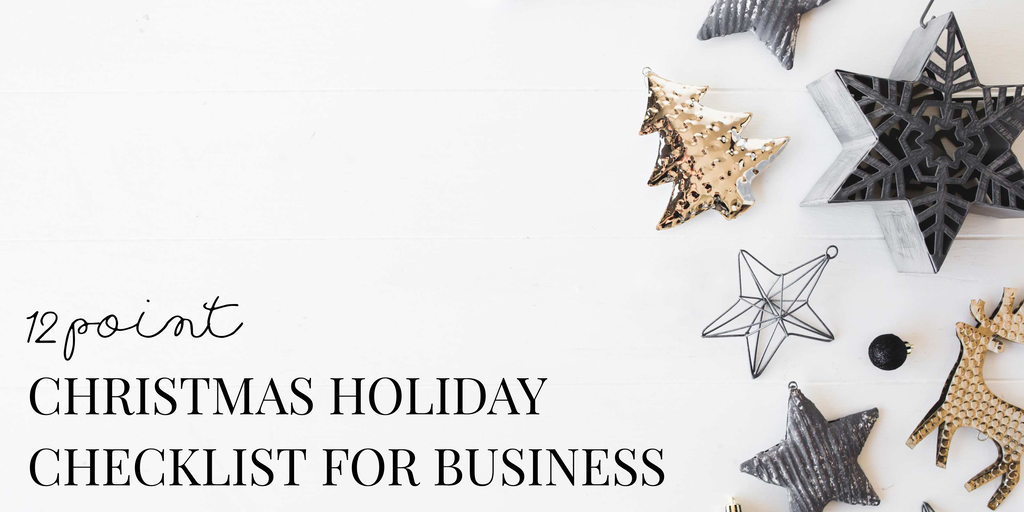 12 point Christmas Holiday Checklist for Business