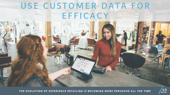 Use customer data for efficacy ('experience' not required)