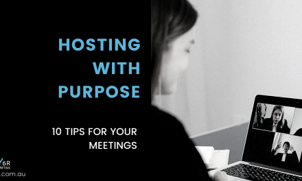 Hosting with purpose; 10 tips for your meeting